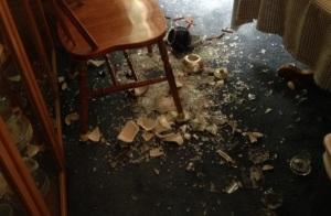 Smashed china